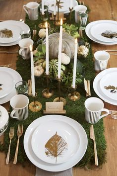 Play with textures for your Thanksgiving table setting