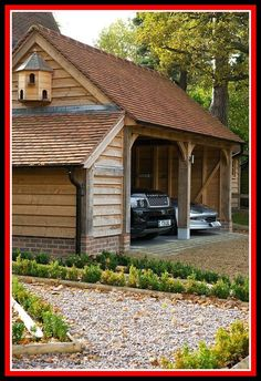 My Shed Plans - an oak frame garage by Border Oak - Now You Can Build ANY Shed In A Weekend Even If You've Zero Woodworking Experience! Carport Garage, Garage Plans, Shed Plans, House Plans, Garage Ideas, Detached Garage, Design Garage, House Design, Border Oak
