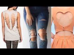 Customiza & Transforma tu Ropa Fácil 2017 - DIY Clothes Life Hacks - YouTube