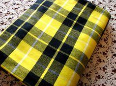 Yellow Black Tartan Fabric Barclay Dress Modern by PEAKaBooVintage, $72.00