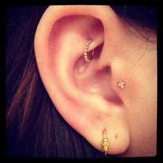 The Rook + Tragus Piercing | 28 Adventurous Ear Piercings To Try This Summer