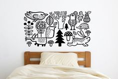A gang of oh-so-cute forest animal decals.