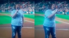 Chewbacca mom knocks national anthem out of the park at Astros game