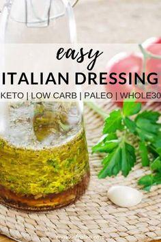 Italian Dressing Recipe (Paleo, Keto, Whole30) - #dressing #italian #paleo #recipe #whole30 - #ItalianDinnerRecipes