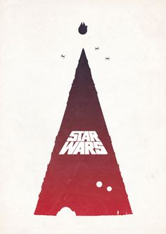 Star Wars Episode IV: A New Hope (1977) ~ Minimal Movie Poster by Barry McGovern
