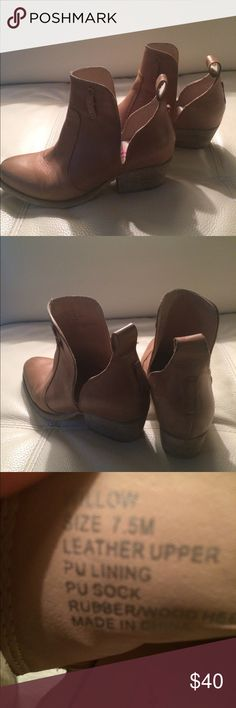 Betsy Johnson nude booties. 7.5 leather Betsy Johnson nude booties. Size 7.5. I have original straps. Too big, I am a 7. Betsey Johnson Shoes Ankle Boots & Booties