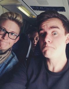Connor Franta, Tyler Oakley and Troye Sivan. My three lovlies <3