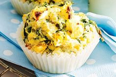 TODDLER Try these easy, mix and bake muffins that are kid-friendly. They also freeze easily making for a fantastic, healthy lunch box idea. Coconut Muffins, Savory Muffins, Baking Muffins, Cheese Muffins, Corn Muffins, Spinach And Feta Muffins, Spinach And Cheese, Lunch Box Recipes, Lunchbox Ideas