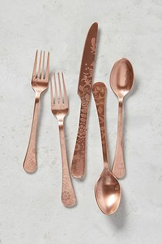Objective Starbucks Cutlery Set Gold Plated Dinnerware Fork Spoon Chopsticks Limited 2019 To Be Distributed All Over The World Flatware, Knives & Cutlery