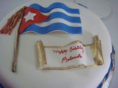 Cuban Flag Cake