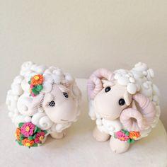 Yo amor oveja personalizada recuerdo Topper de la por theaircastle