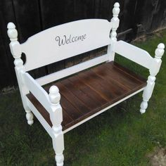 Old Headboard And Pallet #Bench | 99 Pallets