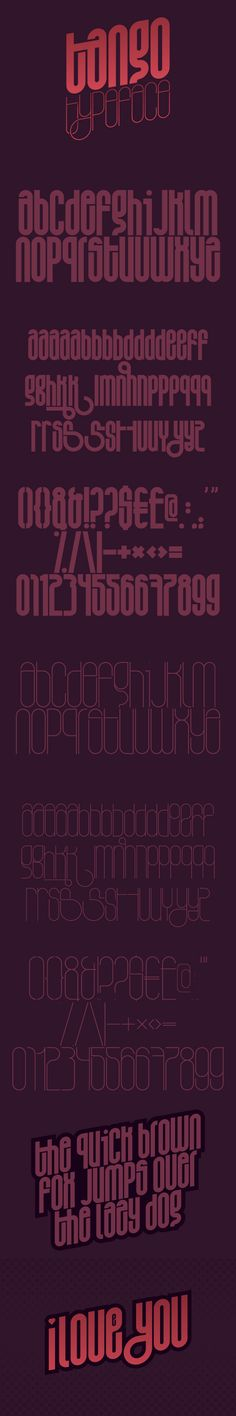 tango typeface by titusprod , via Behance