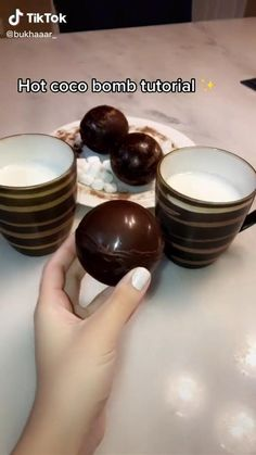 Fun Baking Recipes, Dessert Recipes, Cooking Recipes, Hot Chocolate Gifts, Hot Chocolate Recipes, Delicious Desserts, Yummy Food, Tasty, Food Cravings