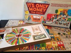 Its Only Money by ESM Marketing, copyright Own this classic shopping mall game today! A fast paced game of shopping, strategy, and spending, Dinner Party Games, Games Today, Shopping Mall, Board Games, Marketing, Money, Classic, Handmade Gifts, Group