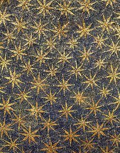 Mosaic stars on the ceiling of the vault, Mausoleo di Galla Placidia, Ravenna, Italy (mid 5th century)