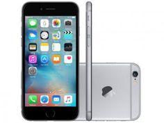 "iPhone 6 Apple 64GB Cinza Espacial Tela 4,7"" - Retina 4G Câmera 8MP + Frontal iOS 8 Proc. M8"