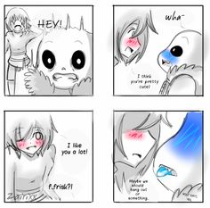 Sans in the last panel: holy shit yes...my god why do I love this so much
