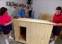 Build an insulated, two-room dog house that perfectly fits your pup.