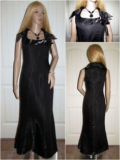 Mother of Bride Dress Long Black Formal Sealskin Look Evening Gown Bridesmaid 4 #Unbranded #FullLengthFormal #Formal