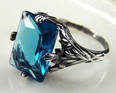 Sz 7-11 Solid Sterling Silver Lab London Blue Ring. Starting at $7 on Tophatter.com!