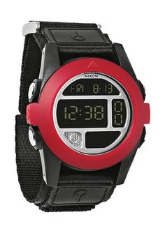The Baja, Whether your needs take you off-road or completely off-the-grid, The Baja is your self-contained survival station. Its protective angled bezel conceals an arsenal of digital assets including: compass, flashlight and thermometer, strapped with a nylon cuff and band.