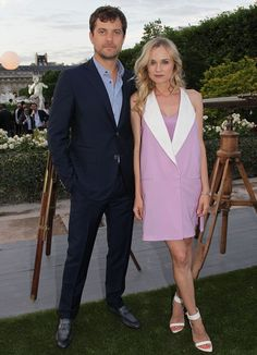 Model couple: Joshua Jackson and Dian Kruger attended a private dinner last night at the Jardin du Palais Royal as part of Paris Fashion Week