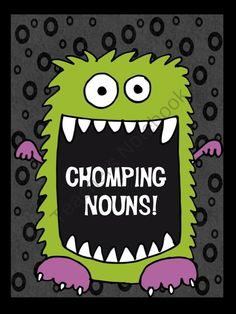FREE...This fun freebie makes learning nouns much easier than petting a hungry monster! Quick and easy min-lessons make it easy for teachers too!