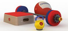 WOD Toys for your future li'l CrossFitters. Cute!!!