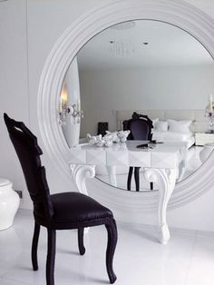 Good Makeup Table & Mirror Design but use a bigger table