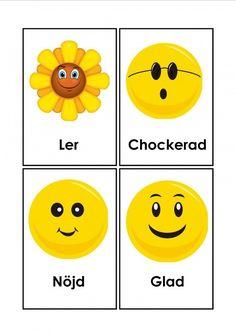 Mariaslekrum - Illustrerade känslor. Learn Swedish, Swedish Language, Smileys, Maths, Humor, Motivation, Learning, Character, Languages