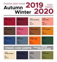 Summer Color Palette 2020.New York Fashion Week Spring Summer 2019 Color Palette