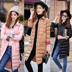 2016 Ultra Light Down Jacket Women Winter Coats Black Overcoat Warm 90% Duck Down Padded Long Winter Jackets Female Down Parka