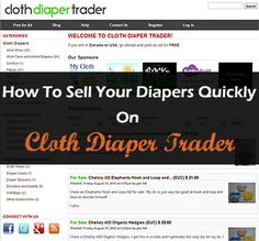 How to Sell Your Diapers Quickly on Cloth Diaper Trader. #clothdiapers