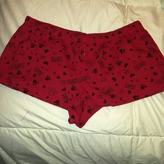 "Night shorts Cute little shorts to wear to bed. Has ""Love"" and paw prints and hearts on them. Pair with a tank and you have a nice little sleeping outfit. Pink Panther Intimates & Sleepwear Pajamas"
