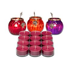 Pick up this glowing trio plus one dozen Berry Bramble tealights for a fab fall price. Don't miss out- today's the last day! #kandlesbykari