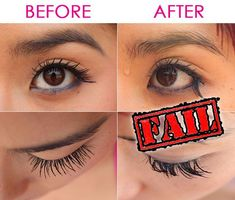 92f5554d2f3 False Eyelashes are NOT waterproof! Professional Use Individual Flare lashes  applied with waterproof strip lash glue, then coated with waterproof  mascara ...