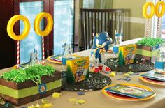 Sonic the Hedgehog Party by Cupcake Wishes & Birthday Dreams www.cwbdparties.com