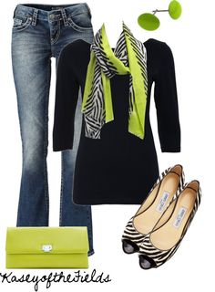 black and lime green