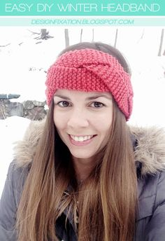 Easy DIY Winter Headband Tutorial /// By Design Fixation
