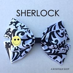 sherlock hair bow. Check out this shop, they have tons of hairbows inspired by different shows and movies.