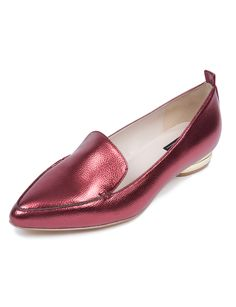 106a61ebc29 Pointed Toe Loafer Wine Metallic Pointed Toe Loafers
