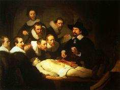 Histoire de l'art - Les mouvements dans la peinture - L'art baroque - Rembrandt - 1632 - La lecon d'anatomie du docteur Tulp