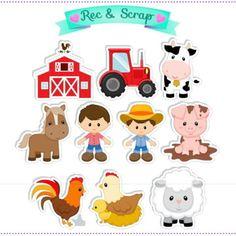 Farm Animal Birthday, Safari Birthday Party, Farm Birthday, 3rd Birthday Parties, Farm Activities, Animal Activities, Princess Cake Toppers, Baby Farm Animals, Barn Parties