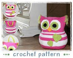 Doorstop  Owl  Crochet Pattern  Amigurumi