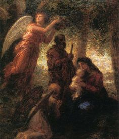 The Birth of Christ, Henri Fantin-Latour Gouache, Henri Fantin Latour, The Birth Of Christ, Sculpture, Gravure, Great Artists, Printmaking, Illustrators, Fine Art