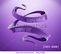 Purple ribbon. Vector by best works, via ShutterStock