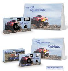 Monster Truck Custom Disposable Camera and Photo Album Set
