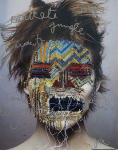 The Art of Embroidery:  Jose Romussi Jose Romussi, Art Du Collage, Art Brut, Photocollage, A Level Art, Gcse Art, Pencil Portrait, Art Design, Art Plastique
