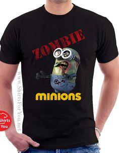 Minions Zombie Mens T Shirt